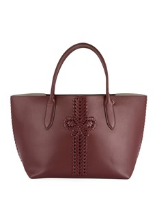 Anya Hindmarch The Neeson Smooth Tote Bag  Burgundy