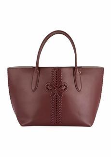 Anya Hindmarch The Neeson Smooth Tote Bag  Burgundy