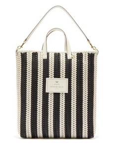 Anya Hindmarch The Neeson striped woven-leather tote bag