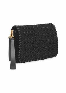 Anya Hindmarch The Neeson Velvet Ribbon Crossbody Bag  Black