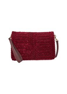 Anya Hindmarch The Neeson Velvet Ribbon Crossbody Bag  Red