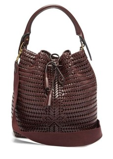 Anya Hindmarch The Neeson whipstitched leather bucket bag
