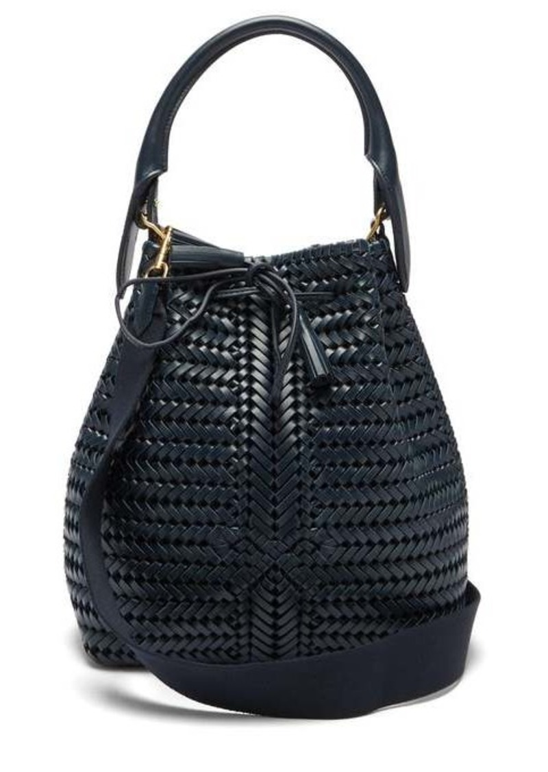 Anya Hindmarch The Neeson woven-leather bucket bag