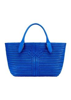 Anya Hindmarch The Neeson Woven Tote Bag  Blue