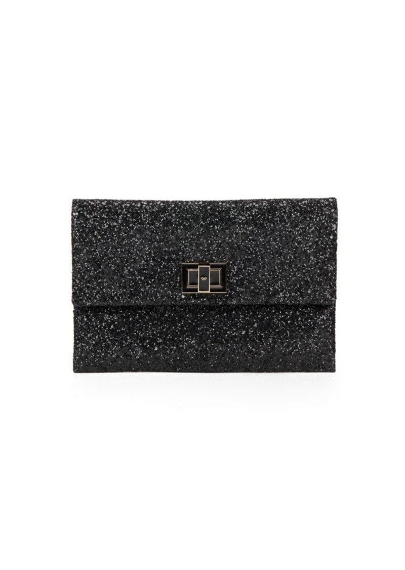 Anya Hindmarch Valorie Sparkling Leather Clutch