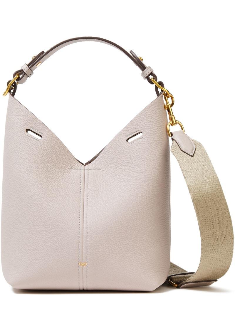 Anya Hindmarch Woman Build A Bag Mini Pebbled-leather Shoulder Bag Neutral