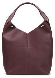 Anya Hindmarch Woman Build A Bag Mini Textured-leather Tote Burgundy