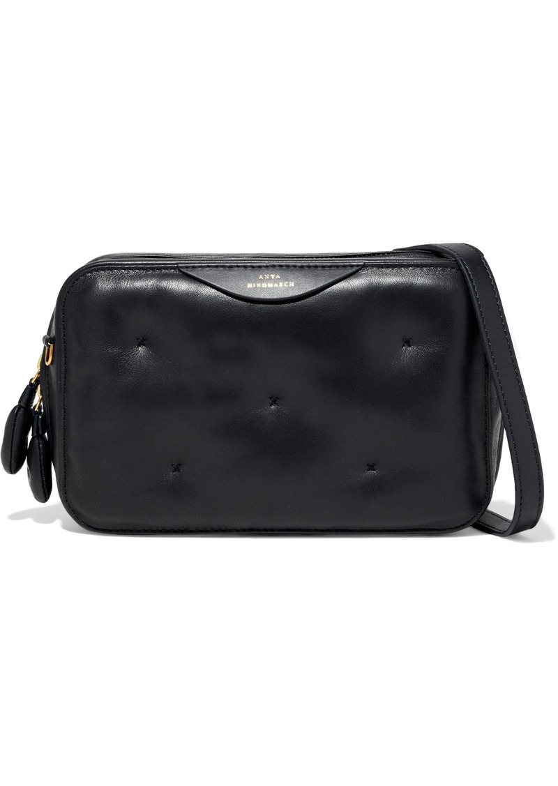Anya Hindmarch Woman Chubby Quilted Leather Shoulder Bag Black