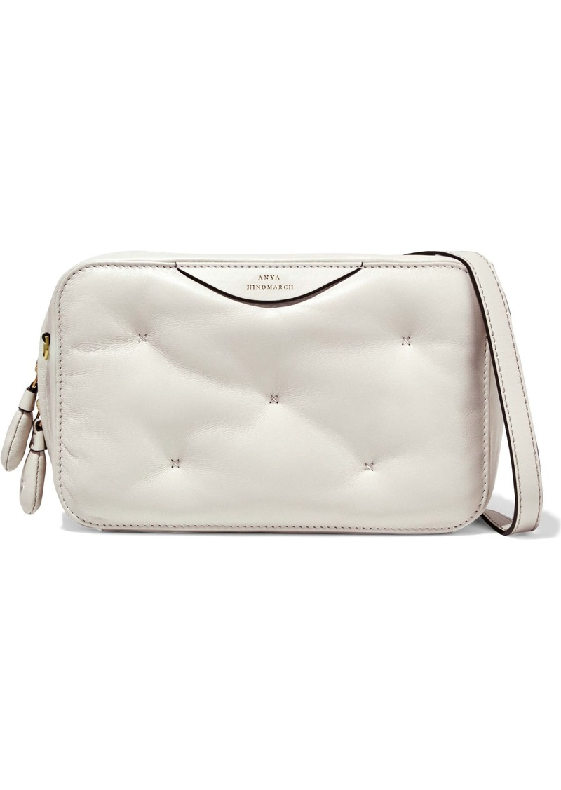 Anya Hindmarch Woman Chubby Quilted Leather Shoulder Bag Off-white