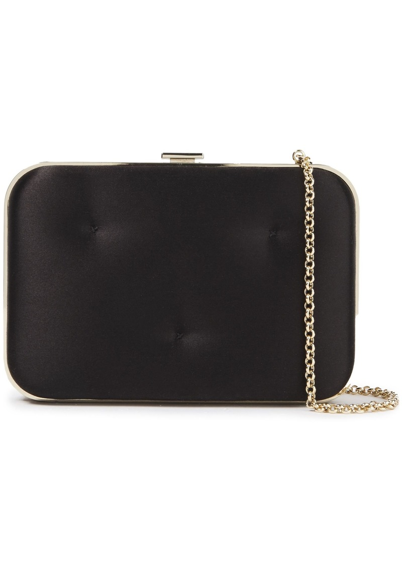 Anya Hindmarch Woman Chubby Quilted Satin Box Clutch Black