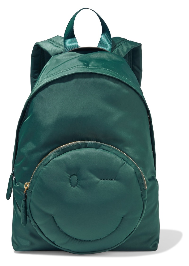 Anya Hindmarch Woman Chubby Wink Shell Backpack Teal