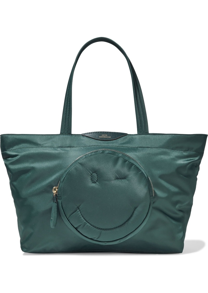 Anya Hindmarch Woman Chubby Wink Shell Tote Teal