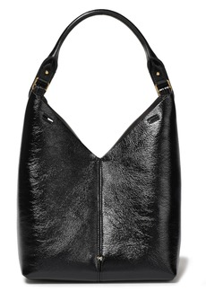 Anya Hindmarch Woman Cutout Textured-leather Shoulder Bag Black