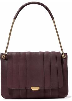 Anya Hindmarch Woman Gracie Snakeskin-trimmed Leather Shoulder Bag Burgundy