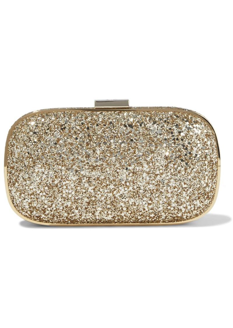 Anya Hindmarch Woman Marano Glittered Woven Box Clutch Gold
