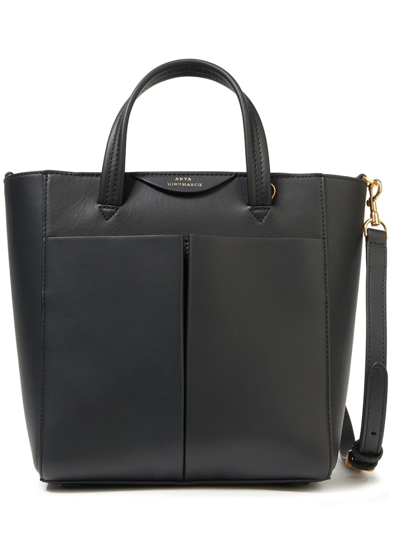 Anya Hindmarch Woman Nevis Leather Shoulder Bag Black