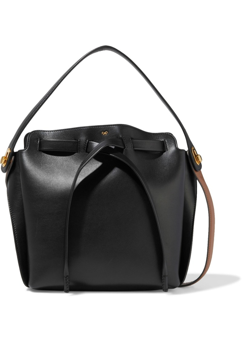 Anya Hindmarch Woman Shoelace Small Leather Bucket Bag Black