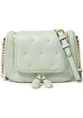Anya Hindmarch Woman Small Vere Quilted Leather Shoulder Bag Mint