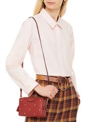 Anya Hindmarch Woman Studded Leather Shoulder Bag Brick