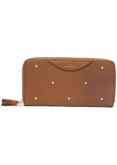 Anya Hindmarch Woman Studded Textured-leather Continental Wallet Light Brown