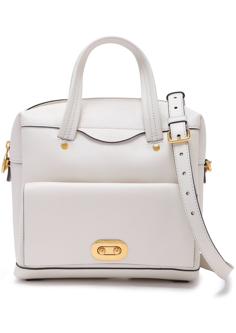Anya Hindmarch Woman Textured-leather Tote Off-white