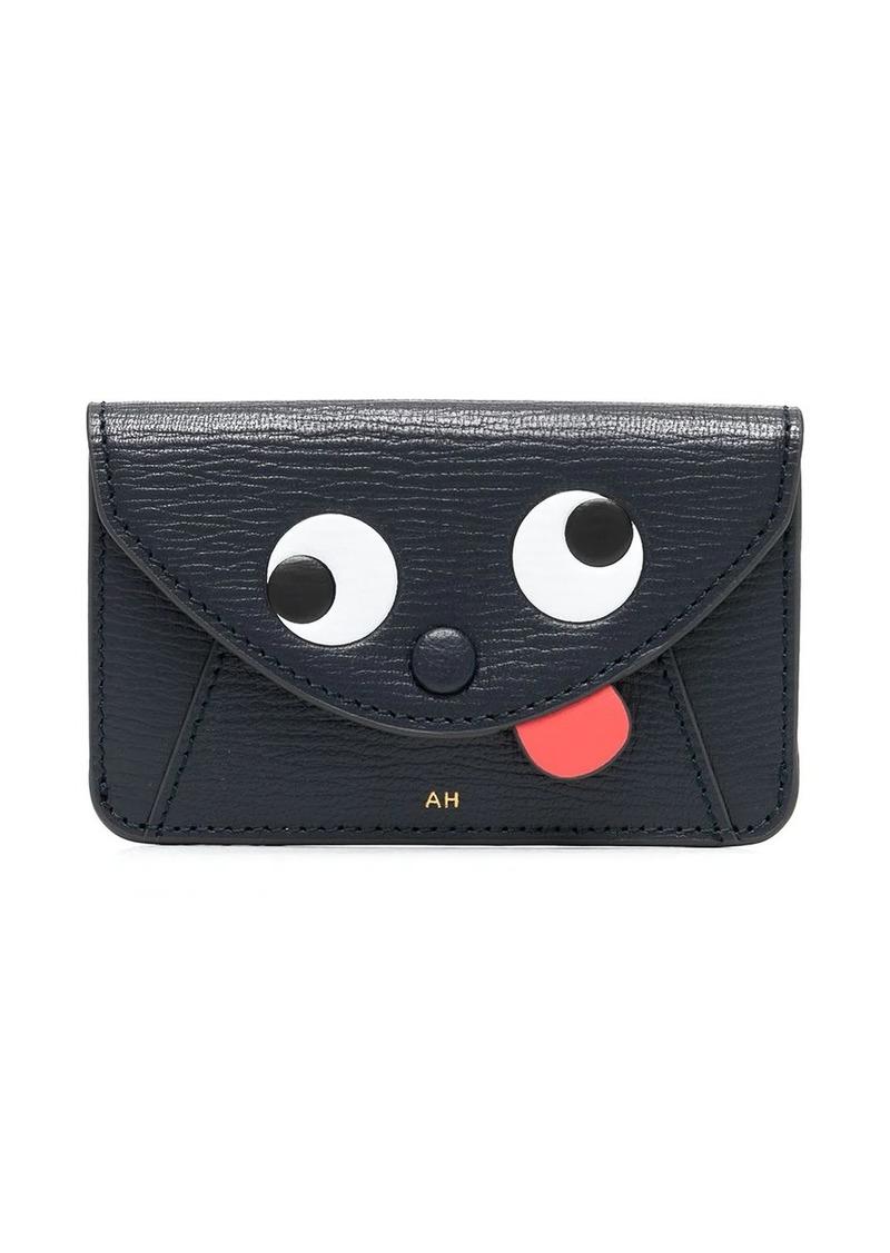 Anya Hindmarch black logo wallet