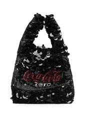 Anya Hindmarch Coke Zero recycled polyester tote