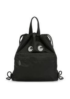 Anya Hindmarch Crystal Eyes Drawstring Backpack