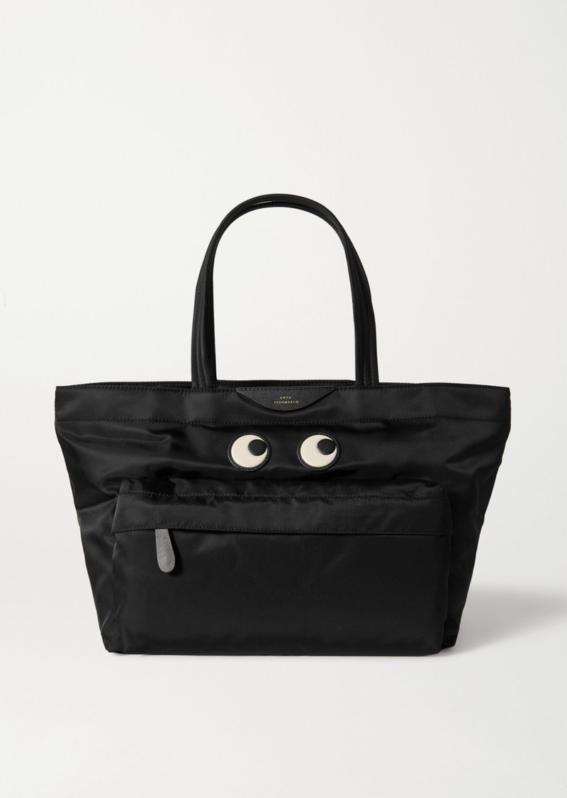 Anya Hindmarch Eyes Leather-trimmed Shell Tote
