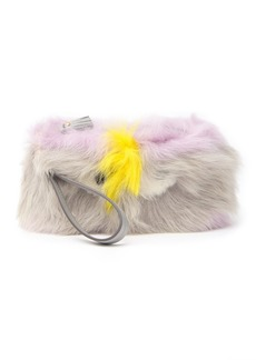 Anya Hindmarch Genuine Shearling Creeper Clutch