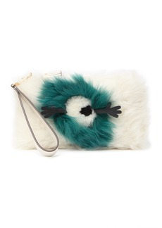 Anya Hindmarch Genuine Shearling Furry Clutch