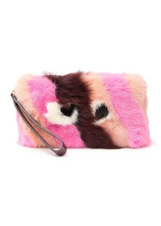 Anya Hindmarch Genuine Shearling Furry Eyes Clutch