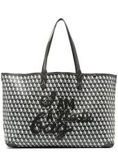 Anya Hindmarch geometric logo print tote bag