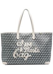 Anya Hindmarch geometric-print leather tote bag