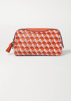 Anya Hindmarch Net Sustain Girlie Stuff Leather-trimmed Printed Coated-canvas Cosmetics Case