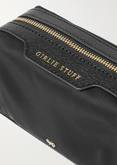 Anya Hindmarch Girlie Stuff Textured Leather-trimmed Econyl Cosmetics Case