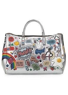 Anya Hindmarch Graphic Metallic Leather Tote