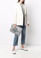 Anya Hindmarch I Am A Plastic Bag monogram laptop clutch