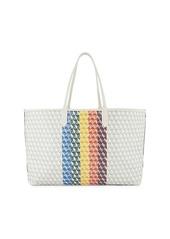 Anya Hindmarch I Am A Plastic Bag Rainbow Canvas Tote