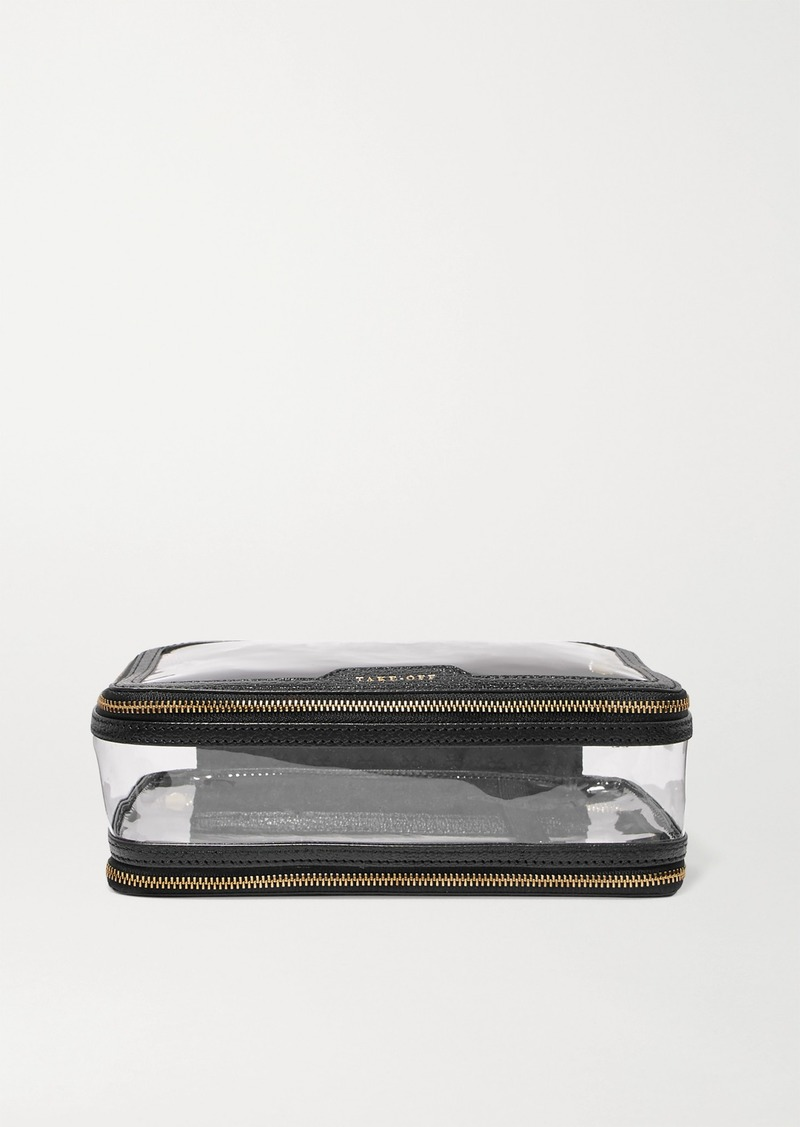 Anya Hindmarch In-flight Leather-trimmed Pvc Cosmetics Case