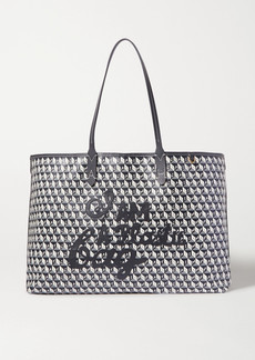 Anya Hindmarch Net Sustain I Am A Plastic Bag Large Leather-trimmed Printed Coated-canvas Tote
