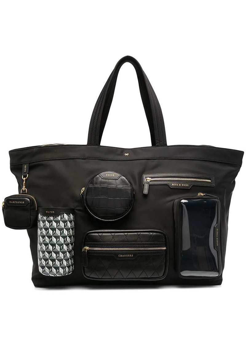 Anya Hindmarch large multi-pocket tote bag