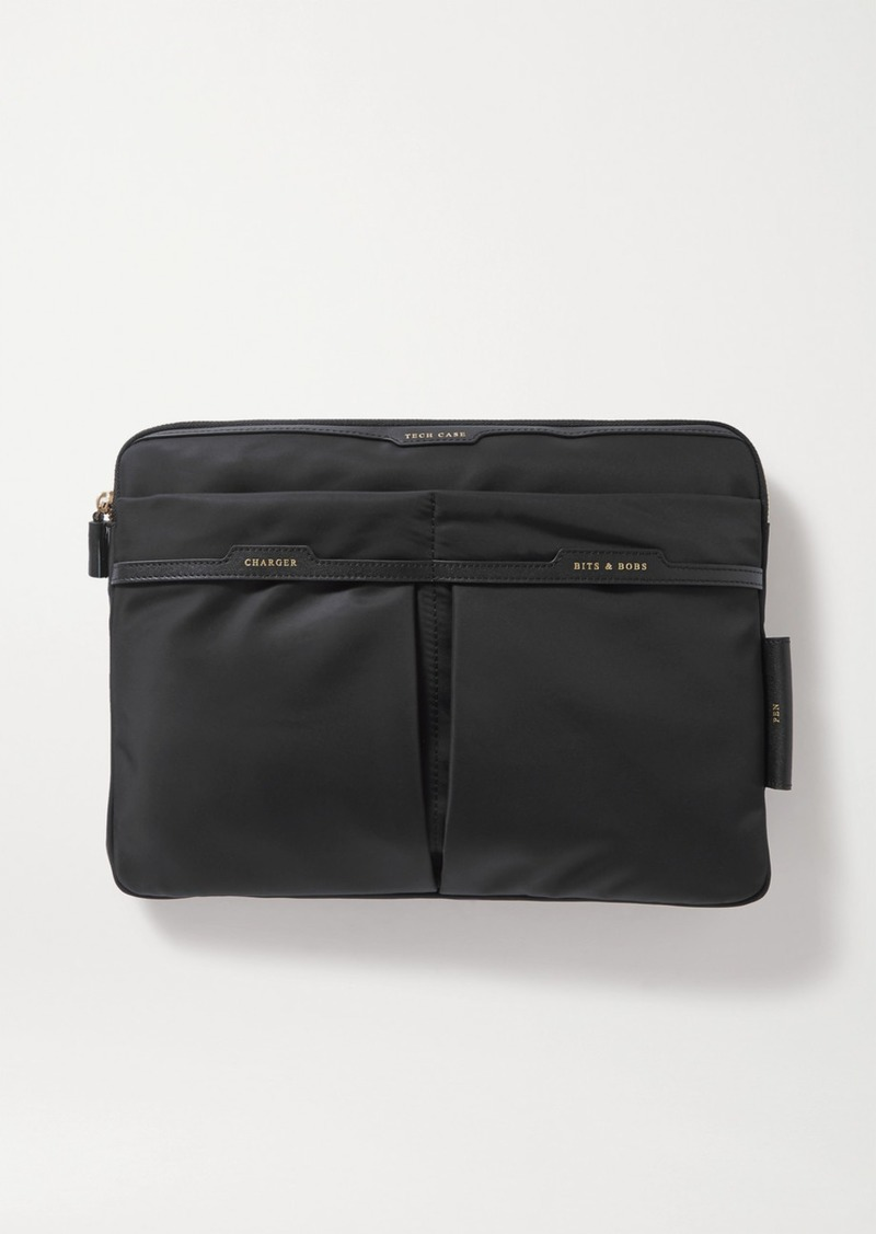 Anya Hindmarch Leather-trimmed Shell Pouch