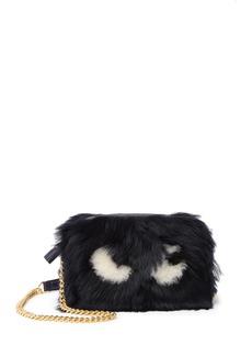 Anya Hindmarch Mini Eyes Genuine Shearling Crossbody Bag