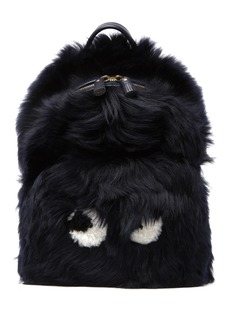 Anya Hindmarch Mini Eyes Right In Genuine Shearling Backpack