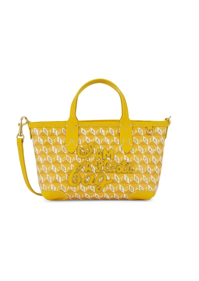 Anya Hindmarch Mini I Am A Plastic Bag Canvas Tote
