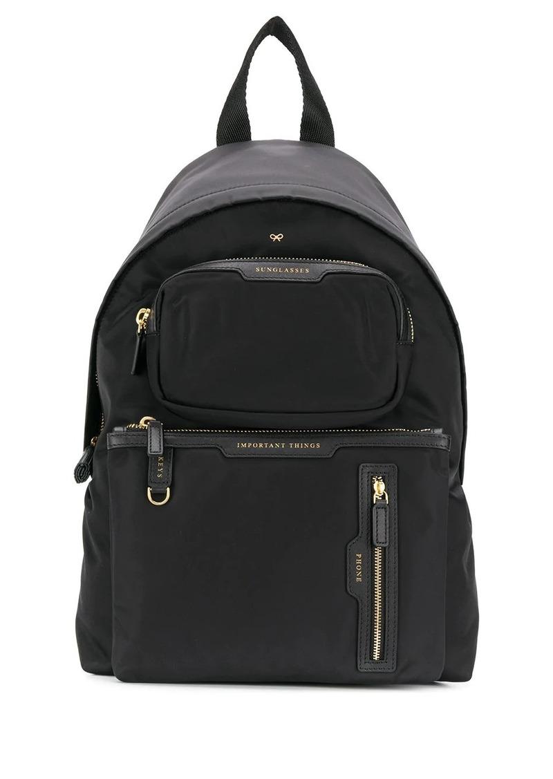Anya Hindmarch multi pocket backpack