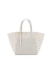 Anya Hindmarch Neeson Square Woven Leather Tote