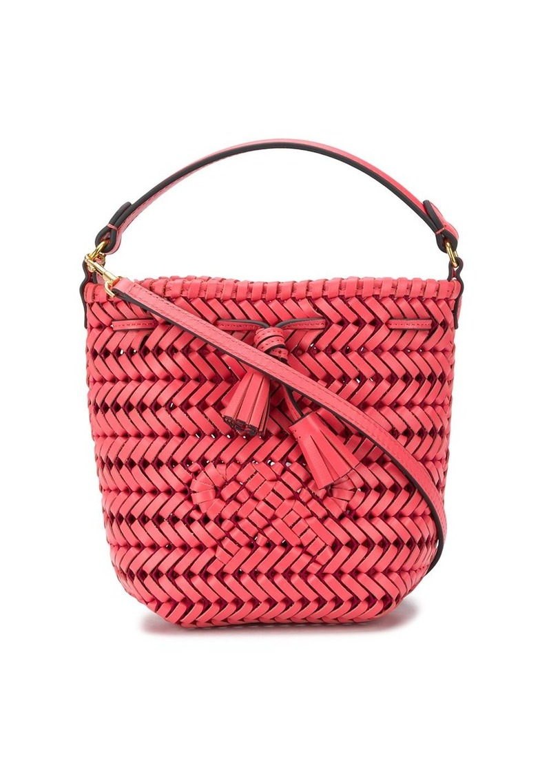 Anya Hindmarch Neeson woven bucket bag