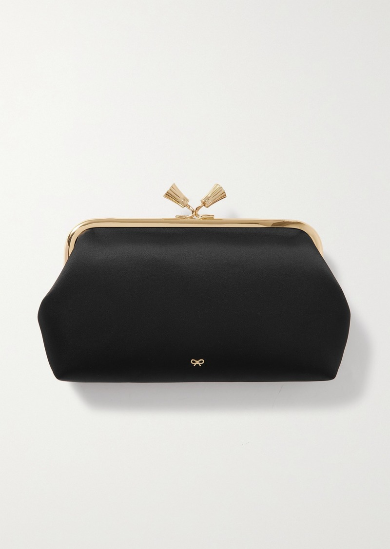 Anya Hindmarch Net Sustain Maud Recycled Satin Clutch